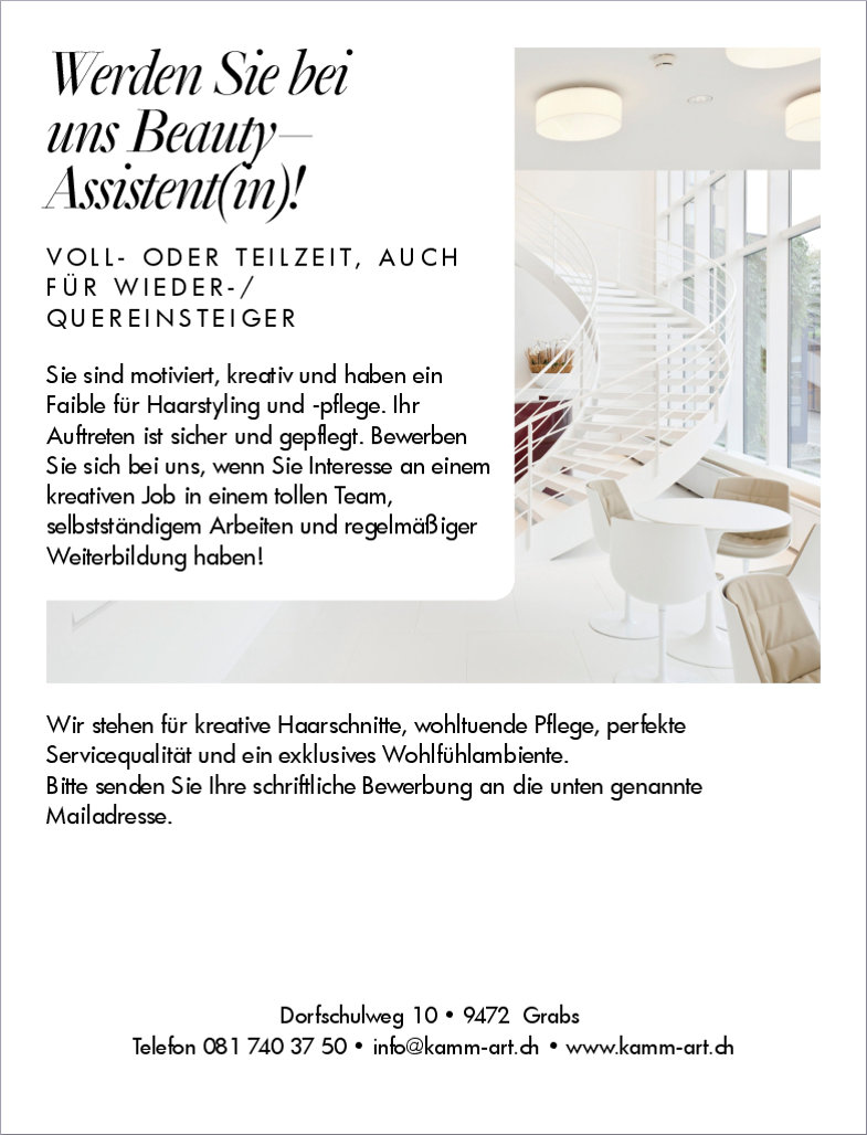 Coiffeur Grabs Beauty Asistenz (m/w)